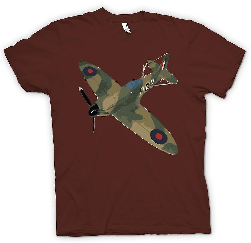 Mens t-shirt - Spitfire Cam verde Pop Art - preventivo
