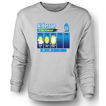 Womens Sweatshirt Alderaan 5 Day Weather Forcast - Star Wars