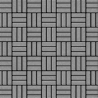Metal mosaic Stainless Steel ALLOY Basketweave-S-S-B