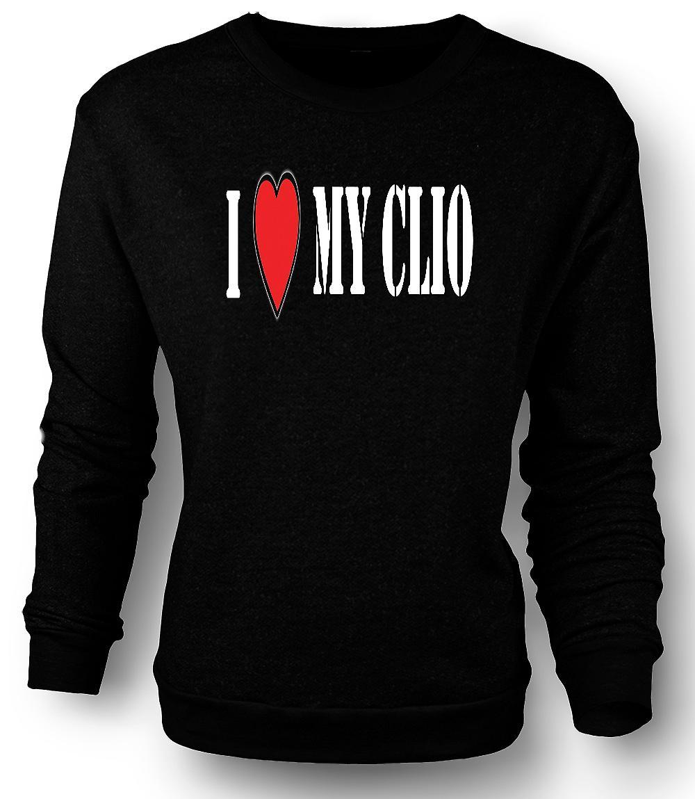 Ich liebe mein Clio - Spaß Auto Mens-Sweatshirt