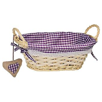 Oval Bread Basket Purple