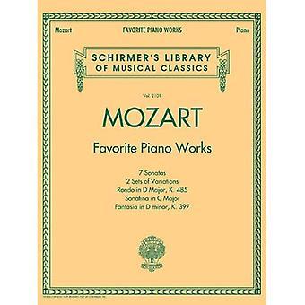 Mozart: Favorit pianoverk (Schirmers bibliotek av musikaliska klassiker)