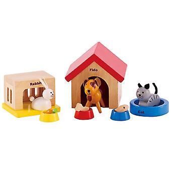 Jeu d'imitation enfant jeux jouets Famille d'animaux domestiques en jouet 0102106