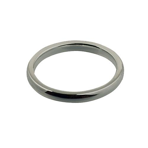 9ct White Gold 2mm plain Court shaped Wedding Ring