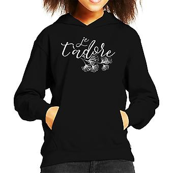 Je T Adore Kid's Hooded Sweatshirt