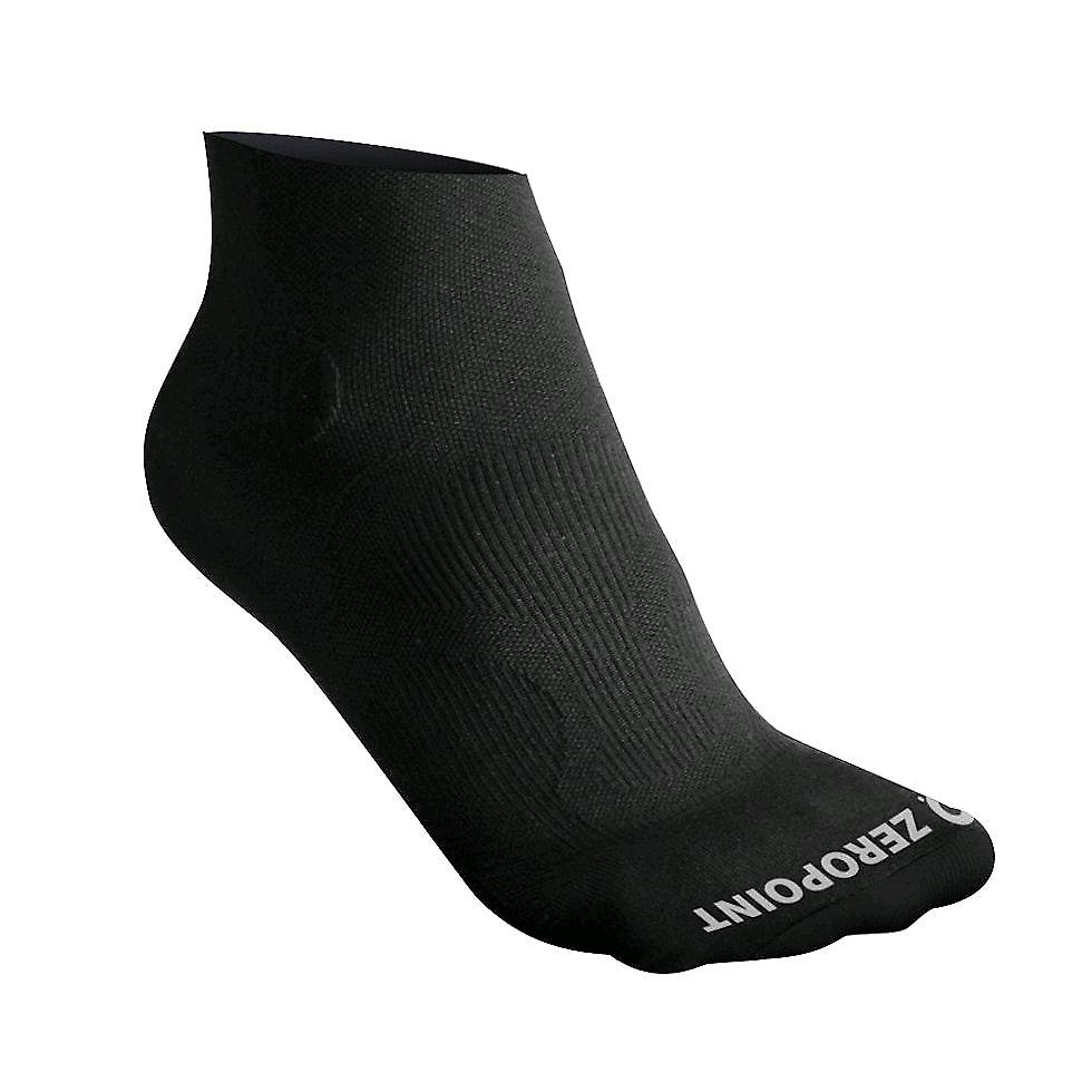 Zero Point Performance Compression Ankle Socks [Style ZP12] Deep Black  XL