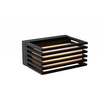 Мальта Светодиодные современные прямоугольник яйца lucide алюминия черные стены свет