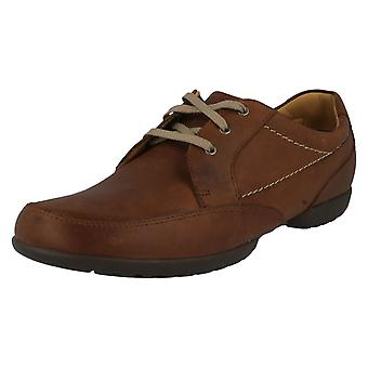 Men's Clarks Casual Shoes Tan Leather Recline Out Size 7H