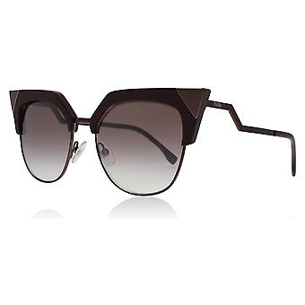 Fendi FF0149/S LHF Opal Burgundy FF0149/S Round Sunglasses Lens Category 2 Size 54mm