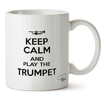 Hippowarehouse Keep Calm And Play trompet trykte krus kop keramiske 10oz