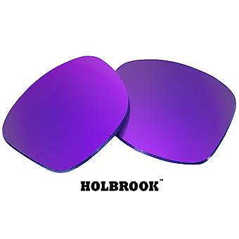 HOLBROOK Replacement Lenses Polarized Purple Mirror by SEEK fits OAKLEY