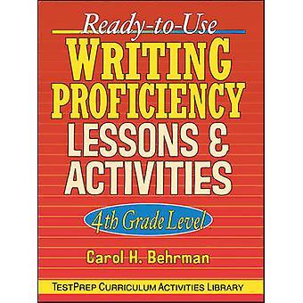 Dominio de la escritura de ReadyToUse lecciones actividades 4 º grado por Behrman y Carol H.