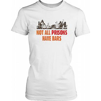 Not All Prisons Have Bars - Conspiracy Ladies T Shirt