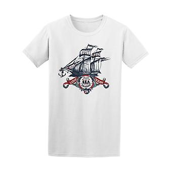 Vintage Ship Love Ocean Sea Tee Men's -Image by Shutterstock