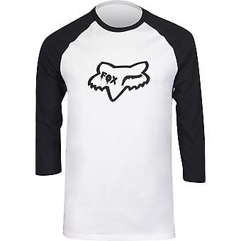 Fox Racing Mens Czar Head Premium Raglan Shirt - White/Black