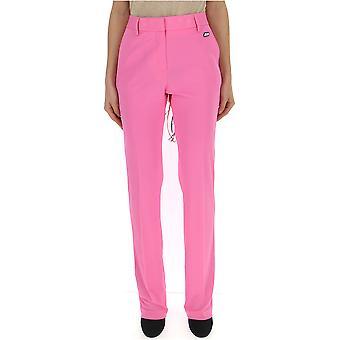 Msgm Fuchsia Polyester Pants