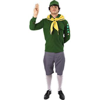 Orion Costumes Mens Green And Yellow Boy Scout Uniform Fancy Dress Costume