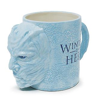 Game of Thrones 3D XXL cup nightking light blue, made of ceramic, capacity about 1000 ml.