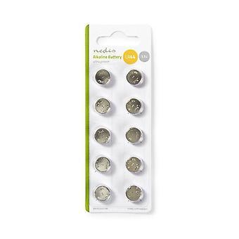 Alkaline LR44 button Cell batteries, 10 pcs