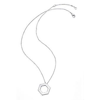 Kaytie Wu Silver Plated Hexagon Necklace 28047