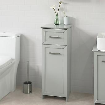 SoBuy Light Grey Floor Standing Bathroom Storage Cabinet Unit with 1 Drawer 1 Cabinet,BZR11-HG