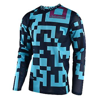 Troy Lee Designs Turquoise-Navy 2018 GP Air Maze Kids MX Jersey