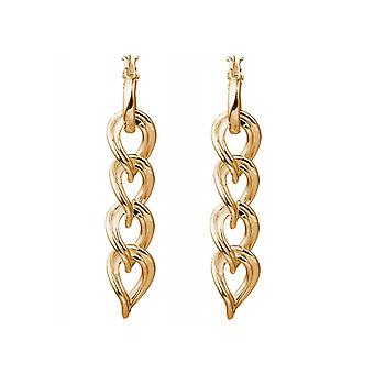 Gemshine Earrings Chains Hoops in Silver or High Quality Gold Plated Made in Spain