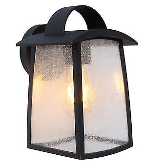 Lutec Kelsey Large Exterior Wall Lantern In Black