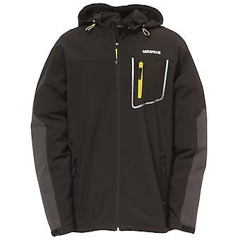 Caterpillar Mens Capstone Hooded Soft Shell Jacket