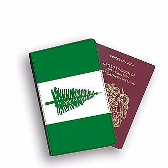 NORFOLK ISLAND Flag Passport Holder Style Case Cover Protective Wallet Flags design