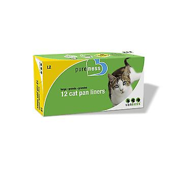 Van Ness Large Cat Pan Plastic Liner (Pack Of 12)