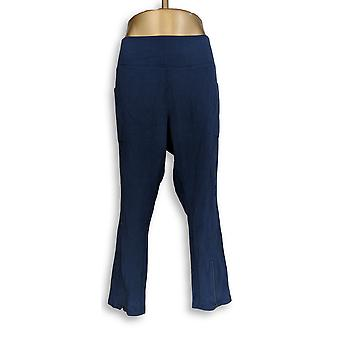Denim & Co. Plus Leggings Active Pockets Blue A309445