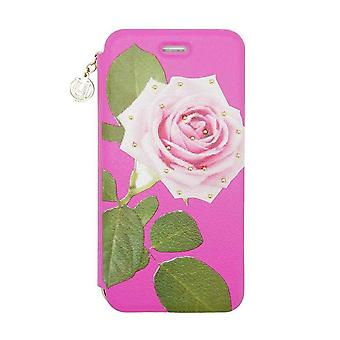 iPhone 6/6s - 4.7 Inch Studded Pink Rose Folio Hard Shell