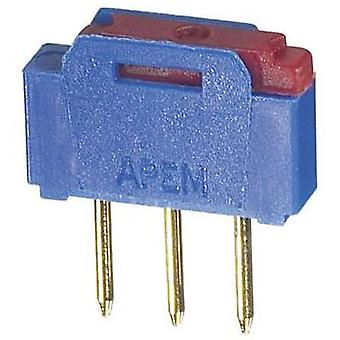 Slide switch 12 Vac 0.5 A 1 x On/On APEM NK236H