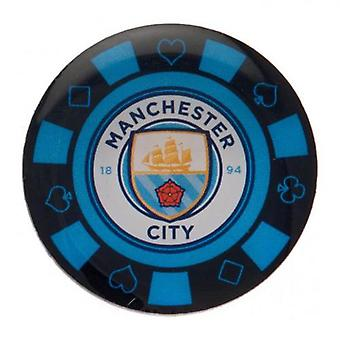 Manchester City Poker Chip Badge