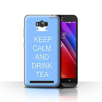 STUFF4 Case/Cover for Asus Zenfone Max ZC550KL/Drink Tea/Blue/Keep Calm