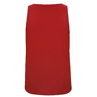 BadRhino rojo llano cuello chaleco