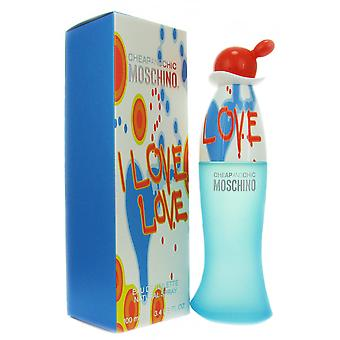 Moschino I Love Love für Frauen 3,4 oz EDT Spray