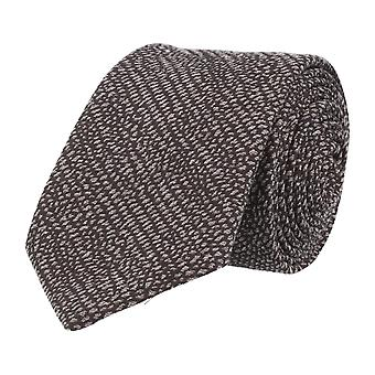 Baldessarini classic tie Black wool silk grained