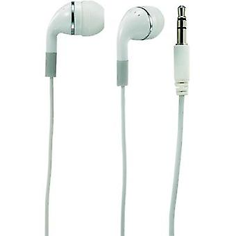 Headphone Basetech E-H 115 In-ear White