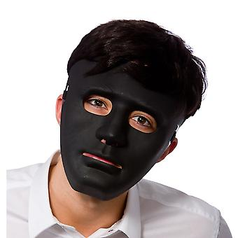 Adult Deluxe Robot Black Anonymous Face Mask Fancy Dress Accessory