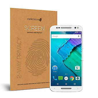 Celicious Privacy Motorola Moto X Style 2-Way Visual Black Out Screen Protector