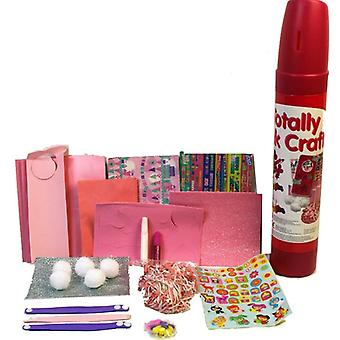 Totally Pink Tube of Crafts Kids Art & Craft Making Kit