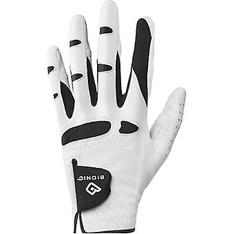 Bionic Men's StableGrip Natural Fit Left Hand Golf Glove - White/Black