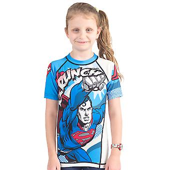 Fusion kamp Gear Kid's Superman Krunch kort erme Rashguard