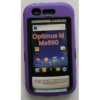 Dual Snap-on Hard Case LG Optimus M MS690 (Purple/Black)