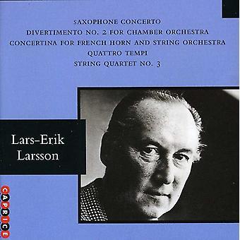 Lars-Erik Larsson - Lars-Erik Larsson: Saxofon Concerto; Divertimento nr. 2 for Kammerorkester; Osv [CD] USA importerer