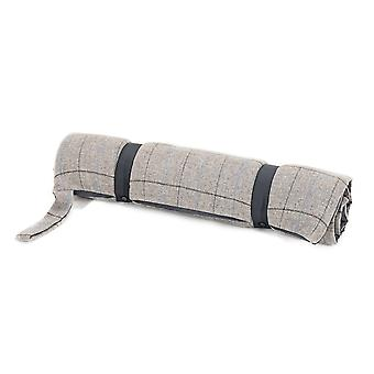 Tweedmill Tweed Travel Dog Bed With Waterproof Base - Overcheck Silver/Silver