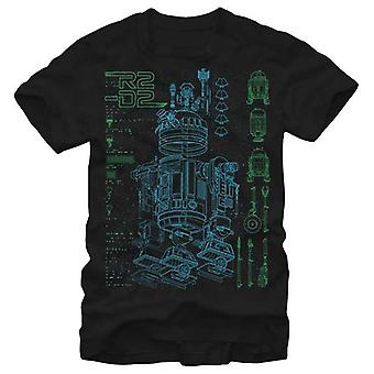 Star Wars Mens Star Wars Inside R2 T Shirt Black