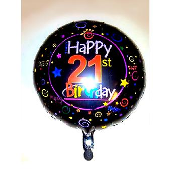 Foil Balloon 21st BIRTHDAY